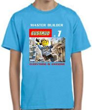 LEGO Movie T-SHIRT Everything is awesome personalized blue, black, gray, white