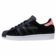 Adidas Originals Superstar 80 S W Black Pink White 2014 New Womens Casual Shoes