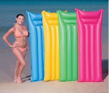 """Swimming Pool Inflatable Lilo Lounger Air Bed Mattress Float Blow Up 72"""" X 27"""""""