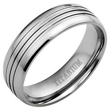 Willis Judd New Mens Polished 8mm Titanium Ring in a Free Gift Box