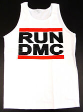 RUN DMC JAM MASTER JAY Tank Top T-shirt Hip Hop Rap Rock White Adult S-XL New