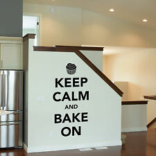 Keep Calm and Bake On Wall Sticker - Kitchen Wall Sticker