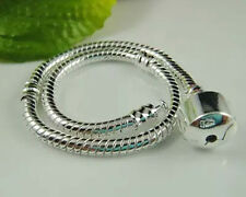 JudyCollection 5pcs Silver Plated Charm Bracelets European Bracelets