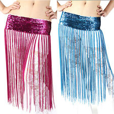 Dancing Costume Oriental Belly Dance Hip Skirt Scarf Wrap sequins Fringe Tassel