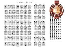 NEW GUITAR CHORD CHART NOTES GUIDE WALL ART PRINT PREMIUM POSTER