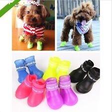 Pet Shoes Dog Rain Boots Waterproof Booties Rubber Shoes 5 Candy Colors  LJ