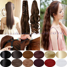100% new Wrap straps binding Claw Clip In Ponytail Hair Extensions cheap price