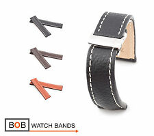 BOB Marino Buffalo Deployment Strap for Breitling, 20 & 22 mm, 3 colors, new!