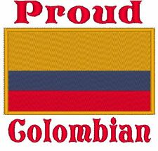 Proud Colombian. Colombia Flag. Carter's Baby Bodysuit Embroidery