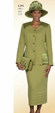Lady's 2 Piece Church Dress Comes with Jacket and Long Skirt, Olive Color #L391