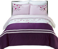 Cherry Embroidered 4-PC Comforter Set 100% Combed Cotton