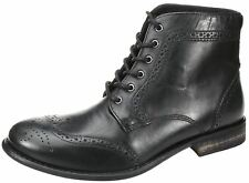 Mens Red tape Nant black brown lace up leather brogue ankle boots High Quality