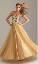 NEW STOCK Long Evening Dresses Prom Gown Dresses Size: 32/34/36/38/40/42