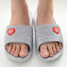 Home Sandals Heart Slip-resistant Bathroom Slippers Casual Beach men shoes  [JG]