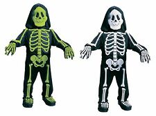 Kids Skeleton Costume 3D Bones Boys Girls Toddler Childs Halloween Jumpsuit Mask