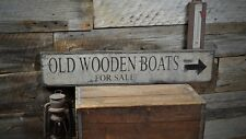 Old Wooden Boats For Sale Sign - Rustic Hand Made Vintage Wooden Sign ENS1000408