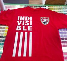 USMNT USWNT USA SOCCER WORLD CUP SHIRT WITH DECALS! Indivisible!!