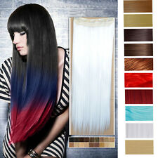 """colorful cosplay colour clip-ins clip in hair extensions 24"""" curly 26"""" straight"""