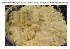 PURE ORGANIC NATURAL UNREFINED RAW SHEA BUTTER White/IVORY African Ghana GRADE A