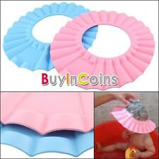 2 X Baby Kids Children Shampoo Bath Bathing Shower Cap Hat Wash Hair Shield HKUS