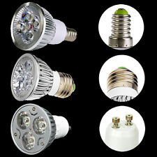 E27 Gu10 E14 3W / 4W Cool/ Warm White LED High power Spot Light Lamp Bulb DE LED