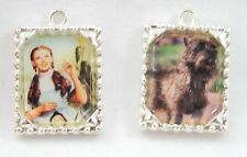 WIZARD OF OZ, U PICK, DOROTHHY OR TOTO, SILVER TONE, FOR JEWLLERY MAKING ETC