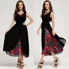 Sexy Womens Boho Ball Gown Long Maxi Dress Vintage Cocktail Party Evening Dress