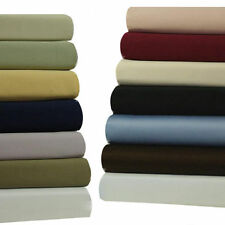 California-King 300 TC Attached Waterbed Sheets, 100% Cotton 4PC Solid Sheet Set