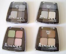 Rimmel Colour Rush quad eye shadow - various colours