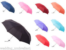 Manual Folding Mini Maxi Compact Umbrellas LIGHTWEIGHT - Variety of Colours