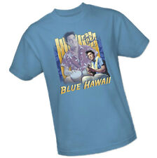 Evis Presley Signature BLUE HAWAII Two Pictures In Island Attire - Adult T-Shirt
