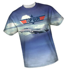 TOP GUN Movie Logo & F-14A Tomcat -- All-Over Front Print Sports Fabric T-Shirt