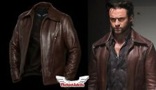 WOLVERINE LEATHER JACKET DAYS OF FUTURE PAST X-MEN HUGH JACKMAN LOGAN