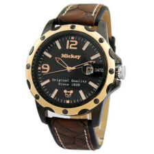 2014 New Boys Mens Watches Calendar Display Date Leather Strap Quartz 52002