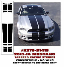 K579 2013-14 MUSTANG TAPERED LEMANS STRIPES - CONVERTIBLE - NO WING