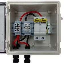 PV Solar 2-String DC Combiner Box with 2 fuses - Pre-wired