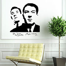 THE KRAYS KRAY TWINS RONNIE AND REGGIE gangsters vinyl wall art sticker decal