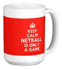 KEEP CALM NETBALL IS ONLY A GAME fun MUG personalised gift for player coach team
