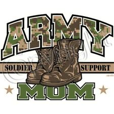Camo Army Mom Military Boots Soldier Support T Shirt Sizes S-6XL Tee