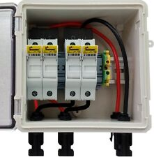PV Solar 2-String DC Combiner Box with 4 fuses - Pre-wired