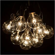 50 Foot Outdoor Globe Patio String Lights - Set of 50 G50 Clear Bulbs