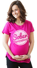 Women's Nine Months Sober Maternity T Shirt Funny Pregnancy Tee