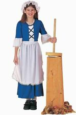 Brand New Blue Colonial Girl Child Costume