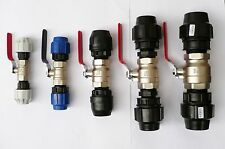 Plated Brass BALL VALVE. Heavy Duty to Compression Fittings. Water Shut Off
