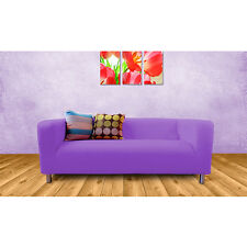Purple Cover Slipcover to fit IKEA KLIPPAN 2 or 4 Seater Sofa Settee Replacement