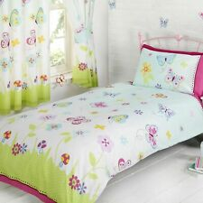 BUTTERFLY GARDEN BEDROOM - SINGLE & DOUBLE DUVETS COVER + CURTAINS IN 2 LENGTHS