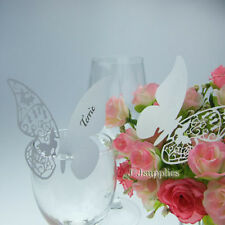 Cut out Lovely Butterfly Wedding Name Place Cards For Wedding Table Decoration