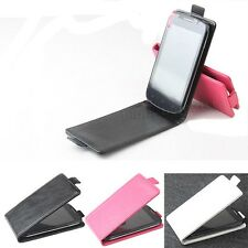 """Magnetic Skin Leather Cover Case Pouch For 4"""" Doogee Collo3 DG110 Smartphone U-D"""