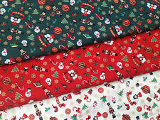 Christmas Fabrics by the metre -  craft sewing & patchwork 100% cotton