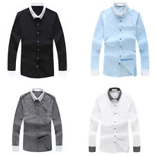 Stylish Mens Comfortable Slim Fit Button Down Casual Dress Long Sleeve Shirt Hot